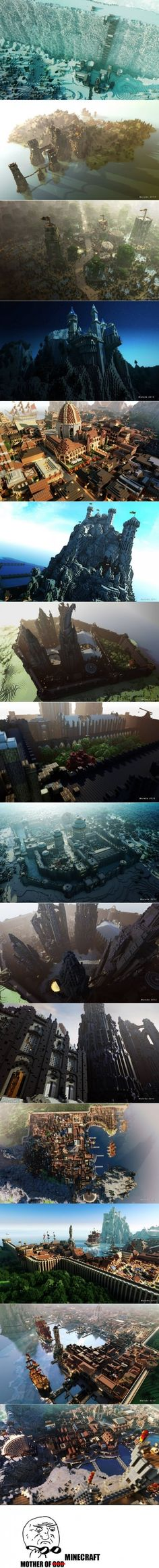 Game of Thrones Minecraft... its the dorkiest thing I have ever seen.