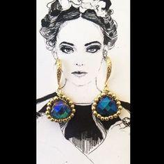 Handmade✋#pgaccesorios #chapadeoro #handmadejewelry #joyas #hechoamano #aretes #earings #cristal