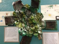 adaptations of sea turtle from aluminum cans (4th grade exhibit)
