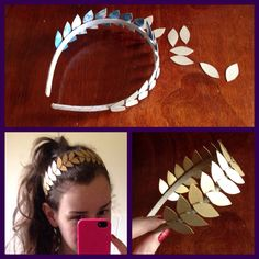 Ancient Greek costume theme - DIY olive head piece