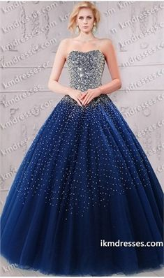 breathtaking allover sequined fairytale tull ball gown inspired by Olivia Wilde Blue Dresses