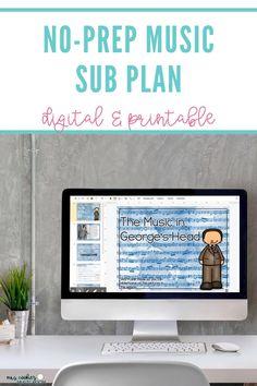 No-Prep Music Sub Plan with Digital and Printable Options