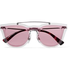 0d74a375c32 Valentino Cat-eye acetate and silver-tone sunglasses ( 420) ❤ liked on Polyvore  featuring accessories