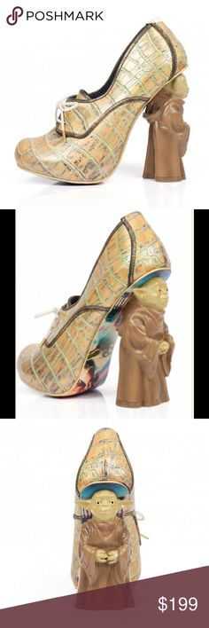 Irregular Choice Star Wars Yoda Shoe www.primadonnavintageboutique.com  | Irregular Choice | Star Wars | Yoda Shoes | Sizes Available :  38, 39, 40 | New with Box  Irregular Choice  Shoes Heels