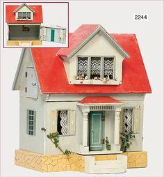 Charming Old Dollhouse by Gottschalk (Germany)~Image via Ladenburger Speilzeugauktion