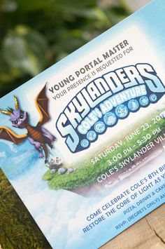 Skylanders Personalized Party Invitation