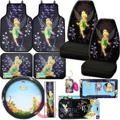 Kia Soul Seat Covers >> Tinkerbell Mystical Tink Car Seat Covers Accessories Set -Low Back | Car Stuff | Pinterest ...