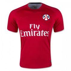 Paris Saint-Germain Red Stripe 16-17 Cheap Training Shirt [F684]