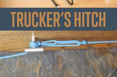 Paracord Hitches: Truckers Hitch | #DIYready | diyready.com | Best DIY Paracord Projects