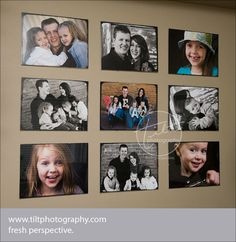 photo wall display using ikea frames #display #photo