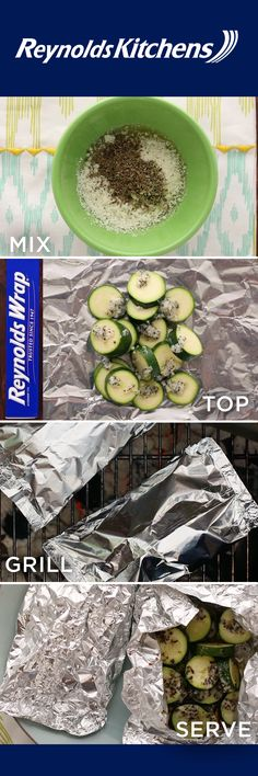 Our Zucchini Foil Packet recipe is a side dish that's as easy to make as it is to enjoy! Reynolds Wrap® Heavy Duty Foil does the cooking for you, so prep and cleanup is a cinch. It's healthy and flavorful, too, so you can't go wrong. Just mix some spices, seal all ingredients in foil, toss on the grill, and serve!