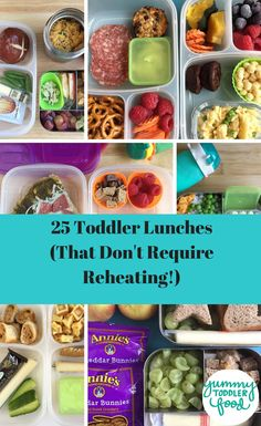 Make coming up with toddler lunch ideas easier with these healthy ideas that don't need to be reheated. You can pack these lunches ahead of time and they'll still be yummy at daycare and preschool!