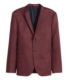 Two-button blazer in twill made from a linen and cotton blend with a fine sheen.  | H&M Men's Classics