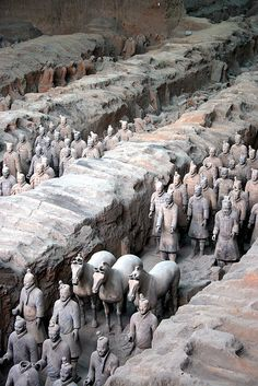 Terra Cotta Warriors, Xian, China...it was the most amazing sight to see.