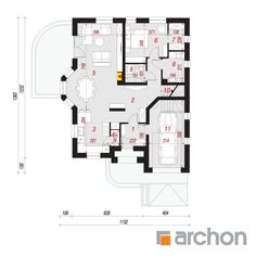 Dom w firletkach Beautiful House Plans, Beautiful Homes, Floor Plans, How To Plan, Interiors, Projects, House Of Beauty, Decorating, Home Interiors