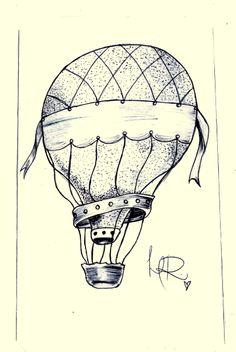 #balloon #drawing #airballoon #dotwork #tattoo