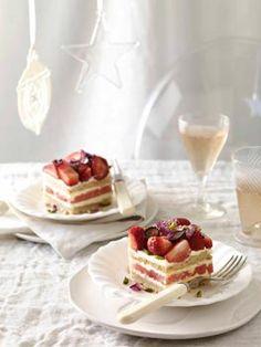 gourmet traveller brings gorgeous strawberry square dessert