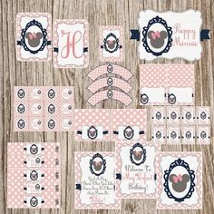 Sweet and Elegant Minnie with Pink Polka Dots Free Printable Party Kit. .