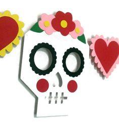 Fiesta de Halloween calaveras de azúcar novia y novio