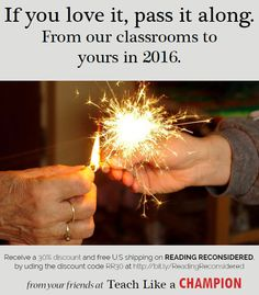Happy New Year from all of us at Teach Like A Champion! Pre-order your copy of 'Reading Reconsidered' today from Wiley and get a 30% discount and free shipping within the U.S.
