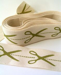 scissors block print ribbon