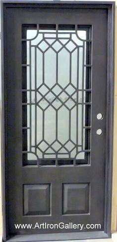 Wrought Iron Doors, Window Grill Design, Salon Interior Design, Windows And Doors, Window Design, Gate Design, Steel Design, Steel Doors, Metal Door