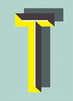 letter T - Typographic Posters: Pawaiian Hunch by Ruth Vissing Photo