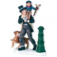Department 56 Dickens' Village Bob Cratchit and Tiny Tim