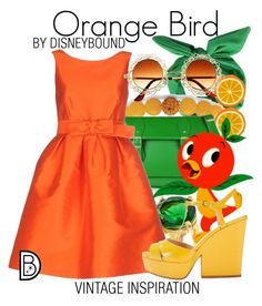 """""""Orange Bird"""" by leslieakay ❤ liked on Polyvore featuring Palm Beach Jewelry, Chupi, P.A.R.O.S.H., vintage, disney and disneybound"""