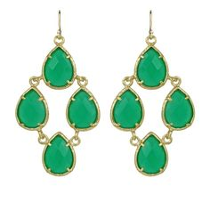 Carlone Earrings, Green Onyx by Kendra Scott. I have bought a blue onyx and green onyx bracelet recently. Love the colors! Wire Jewelry Earrings, Big Earrings, Green Earrings, Turquoise Earrings, Drop Earrings, Jewellery, Jewelry Shop, Jewelry Design, Green Onyx