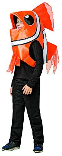 This Kids Clown Fish Costume will have kids pretending to be a real bright orange clown fish! As the species of fish made famous by the