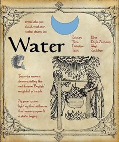 ✯ Water ✯river, lake, sea, cloud, mist, rain, water, steam, ice. Two women demonstrating the well known English magickal principle. As soon as you light the barbeque the heavens open & a storm begins.
