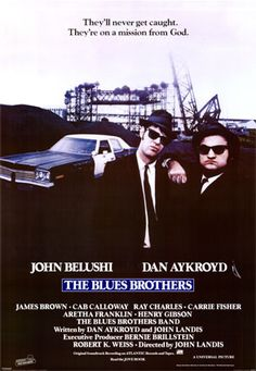 """The Blues Brothers is a 1980 American musical crime comedy film directed by John Landis. It stars John Belushi and Dan Aykroyd as """"Joliet"""" Jake and Elwood Blues, characters developed from """"The Blues Brothers"""" musical sketch on the NBC variety series Saturday Night Live. The film's screenplay was written by Aykroyd and Landis."""