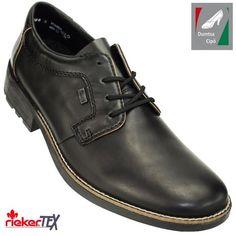 Rieker férfi vízálló bőr cipő 16024-00 fekete