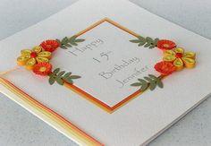 Quilled birthday card handmade paper by PaperDaisyCardDesign, £6.00