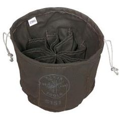 Ten-Compartment Drawstring Bag - 5151 | Klein Tools - For Professionals since 1857