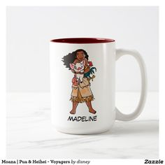 Moana | Pua & Heihei - Voyagers. Regalos, Gifts. Producto disponible en tienda Zazzle. Tazón, desayuno, té, café. Product available in Zazzle store. Bowl, breakfast, tea, coffee. Link to product: http://www.zazzle.com/moana_pua_heihei_voyagers_two_tone_coffee_mug-168858356663525719?CMPN=shareicon&lang=en&social=true&rf=238167879144476949 #taza #mug #moana