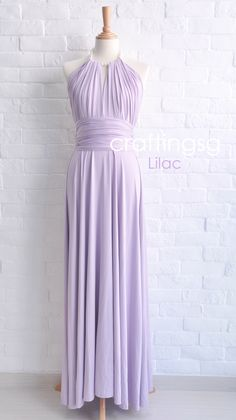Bridesmaid Dress Infinity Dress Lilac Floor Length Wrap Convertible Dress Wedding Dress by thepeppystudio on Etsy https://www.etsy.com/listing/159331317/bridesmaid-dress-infinity-dress-lilac