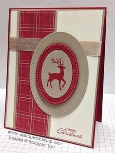 Warmth & Wonder (can use Winter Post), Petite Pairs, Stampin' Up!, Brian King, FMS102 Season of style paper, Crumb Cake, Very Vanilla and Cherry Cobbler paper. Yum!