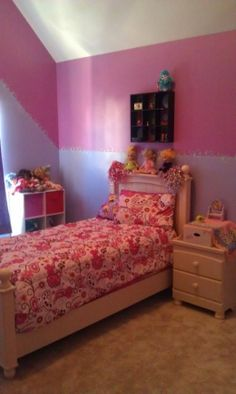 """Painted our girls room in """"tinker bell"""" colors with pixie dust flair and jewels.  Had a blast and she loves it!"""