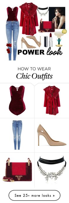 """""""0915"""" by veronicagundez on Polyvore featuring WithChic, Frame, P.A.R.O.S.H., Yves Saint Laurent, Givenchy and Prada Night Out Outfit, Look Chic, Chic Outfits, Givenchy, Yves Saint Laurent, Prada, Polyvore, Stuff To Buy, How To Wear"""