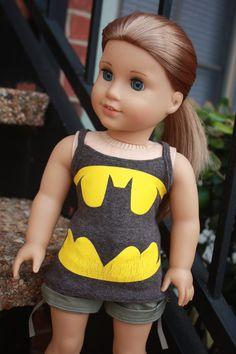 Batman Logo tank for American Girl Dolls by LostinaJungle on Etsy, $10.00