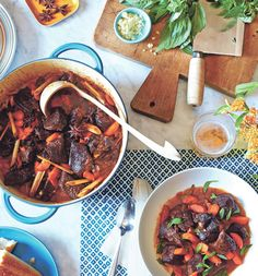 Bo Kho - Vietnamese Beef Stew by Andrea Nguyen, wsj: Asian spices and fish sauce provide surprising depth of flavor. #Beef #Stew #Vietnamese