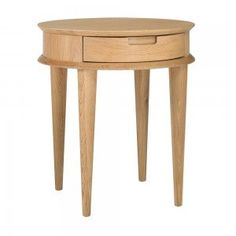 Stockholm Oak Lamp Table with Drawer, Temple and Webster