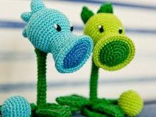 "Crochet pattern of Peashooter and Snow Pea from ""Plants vs. Zombies"" by AradiyaToys"