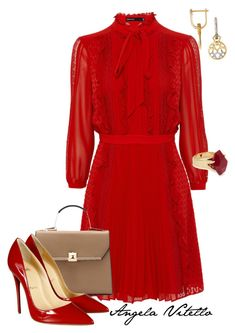 Untitled #610 by angela-vitello on Polyvore featuring polyvore, fashion, style, Christian Louboutin, Lola Rose and clothing