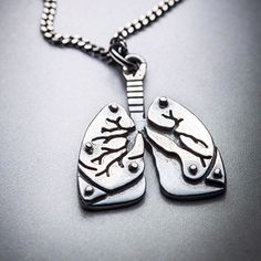 MINI LUNGS silver necklace by missyindustry on Etsy https://www.etsy.com/listing/120740765/mini-lungs-silver-necklace