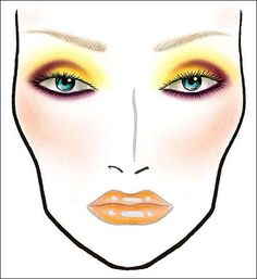 All Day I Dream Of Makeup: MAC Face Chart: Gold Rebel