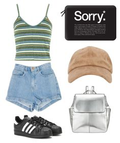 """""""Untitled #115"""" by madddgalriri ❤ liked on Polyvore featuring Topshop, adidas, Casetify and Kin by John Lewis"""