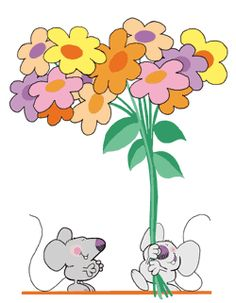 cartoon images of little grey mice | Free Mouse Clipart and Animations of Mice